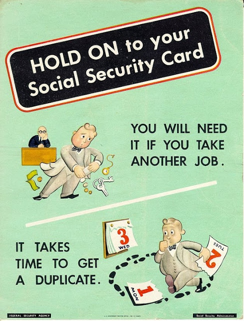 Vintage Social Security Anniversary Poster