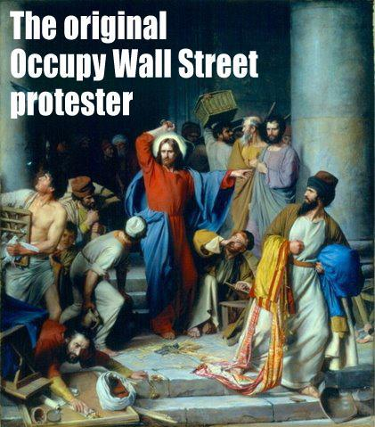 Jesus Occupies Wall Street