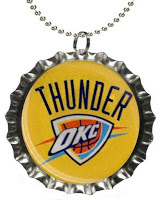 OKC Thunder Pop Bottle Necklace