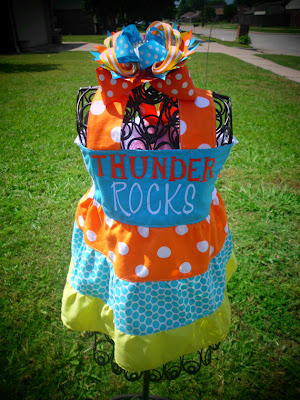 Little's girls sundress in Thunder team colors