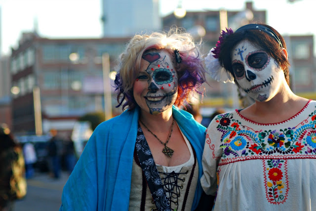 Day of the Dead Costumes at Halloween Parade