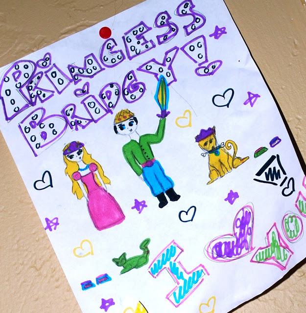 Children's Drawing of a Prince and Princess
