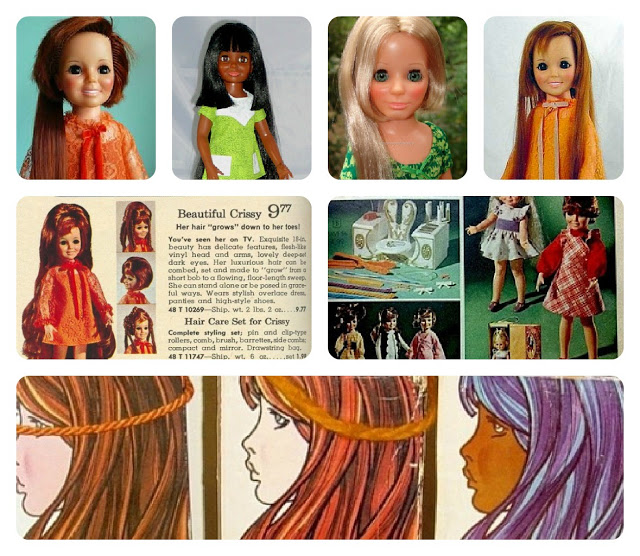 IDEAL'S BLACK CRISSY and VELVET DOLLS from the 1970s
