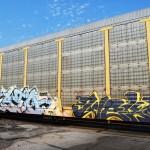 Wild Style Yellow Train Graffiti