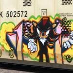 Sonic Hedgehog, Black, Graffiti Train